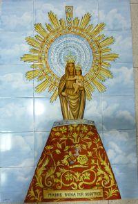 Murales de azulejos imagenes religiosas - Azulejos el pilar ...